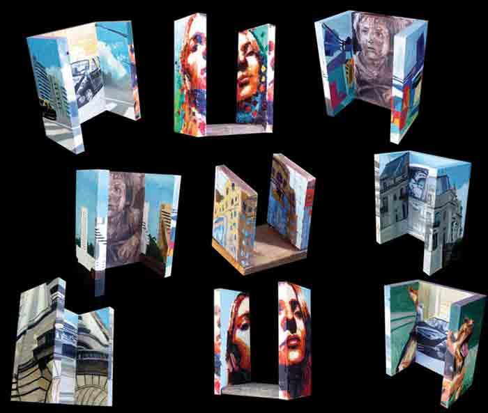 Vários Cubos Óticos